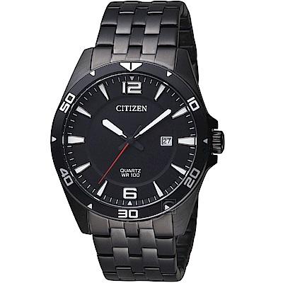 CITIZEN 星辰 酷黑潮流時尚腕錶(BI5055-51E)