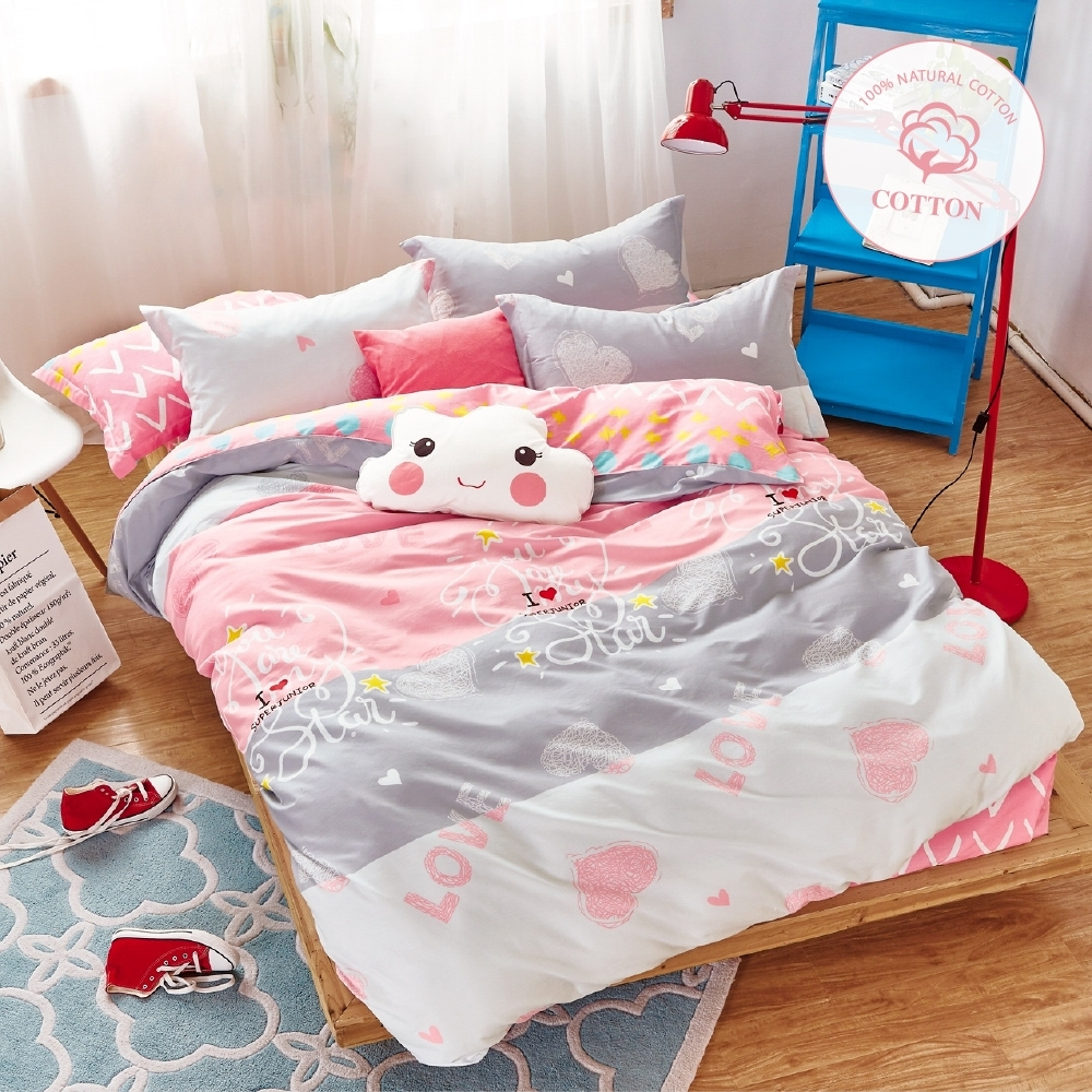 A-ONE 100%純棉-單人床包/被套組-夢幻假日 MIT台灣製
