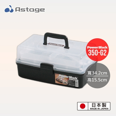 日本JEJ Astage Shelf Power Black 2層工具收納箱 350-G2