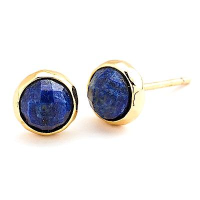 GORJANA 青金石寶藍色玉石耳環 金色寶石耳環 Lapis Studs
