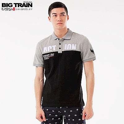 BigTrain 加大潮人配色POLO衫-男-黑色