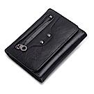 米蘭精品 短夾真皮皮夾-鉚釘牛皮三折短款錢包情人節生日禮物73ny43