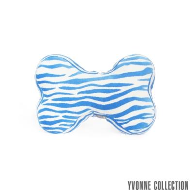 Yvonne Collection 斑馬紋小骨頭抱枕-藍