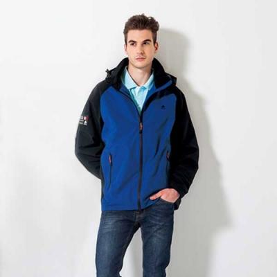 SPAR防風潑水男版外套SC104902藍配黑