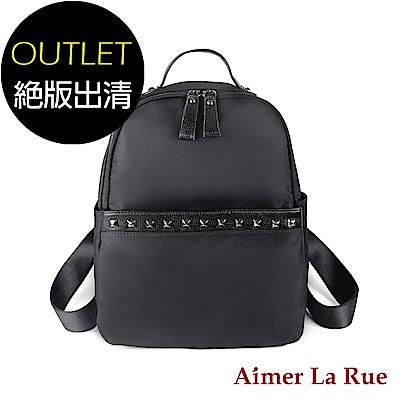 Aimer La Rue 地中海尼龍後背包(黑色)(絕版出清)