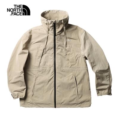 The North Face北面UE女款卡其色防潑水多口袋防風外套|5JUUCEL