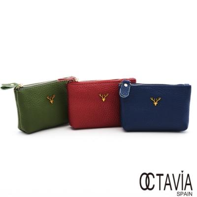 OCTAVIA8 真皮 - 小鹿亂撞  牛皮萬用零錢鑰匙小包-三色可選