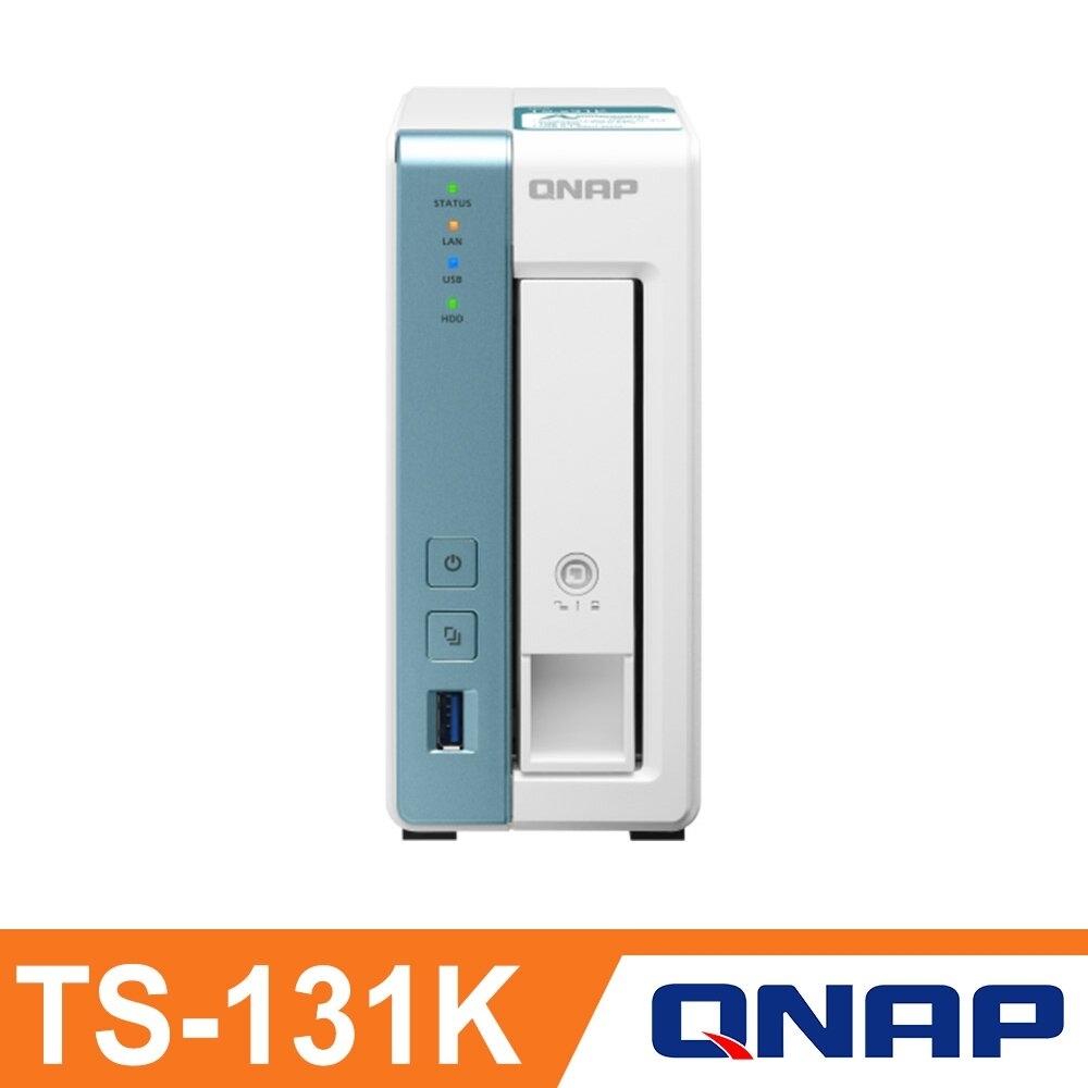 QNAP 威聯通 TS-131K 1Bay NAS 網路儲存伺服器