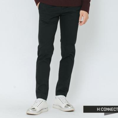 H:CONNECT 韓國品牌 男裝-質感純色西裝褲-黑(快)