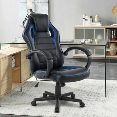 E-home Grandiose雄圖賽車型電競椅-EGS001 藍色