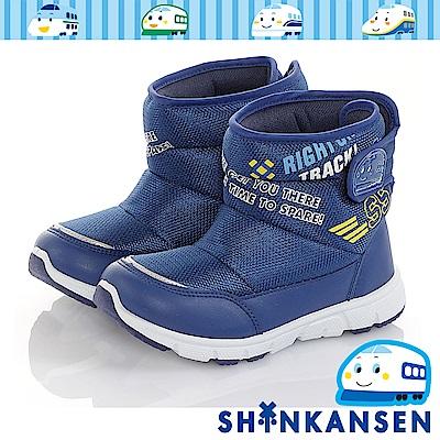 三麗鷗-新幹線 保暖輕量減壓抗菌防臭高筒童靴童鞋-藍
