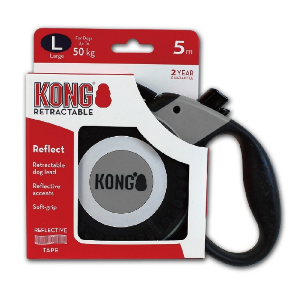 KONG Retractable Reflect 伸縮帶狀反光牽繩 L號