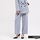 H:CONNECT 韓國品牌 女裝 -質感素面西裝寬褲-藍
