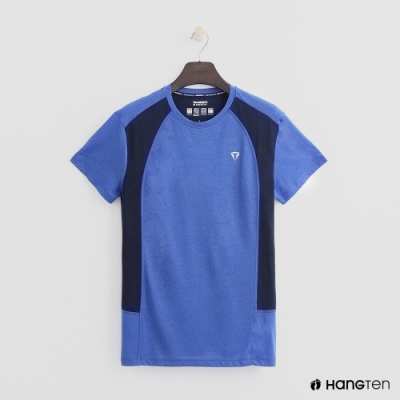 Hang Ten - ThermoContro-撞色拼接造型短T - 藍