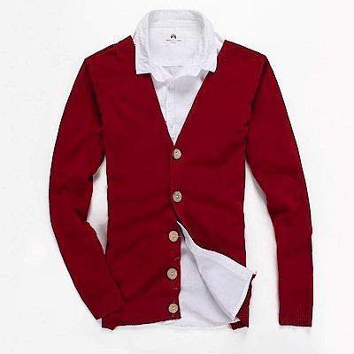 DITION 韓版木釦高密度開襟針織罩衫