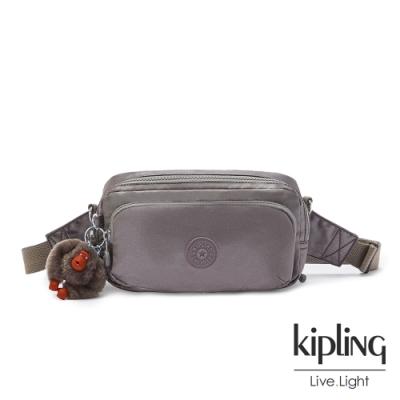 Kipling 寧靜月光灰雙層隨身腰包-HOPE
