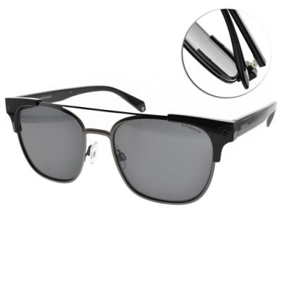 Polaroid 偏光太陽眼鏡 偽復古款/黑槍 #PLD6039SX 807M9