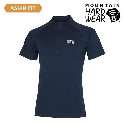 【美國 Mountain Hardwear】Estero Short Sleeve Zip T 彈性短袖拉鍊排汗衣 男款 海軍藍 #OE1249