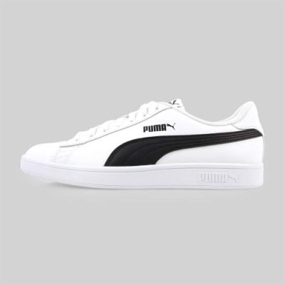 PUMA SMASH V2 L 男休閒運動鞋-慢跑 路跑 白黑