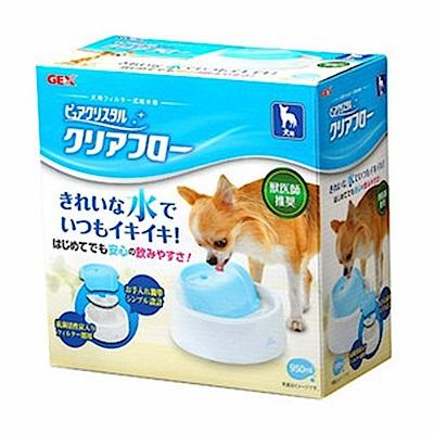 GEX 圓滿平安 犬用靜音型飲水器 藍白 950ml【57285】