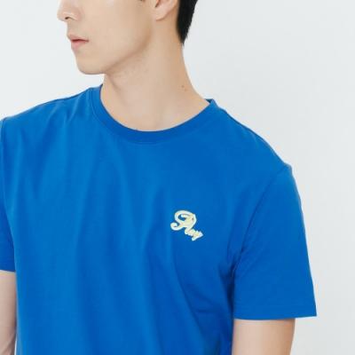 H:CONNECT 韓國品牌 男裝-棋盤格圖印T-shirt-藍(快)
