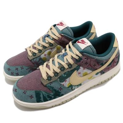 Nike 滑板鞋 Dunk Low SP 運動 男鞋 植物印花 拼接 社區花園 丹寧 球鞋 穿搭 彩 CZ9747900