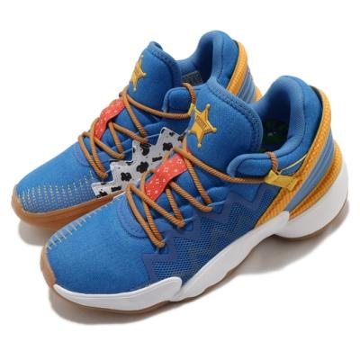 adidas 籃球鞋 DON Issue 2 J 女鞋 愛迪達 玩具總動員 胡迪 回彈 大童 藍 黃 FX1595