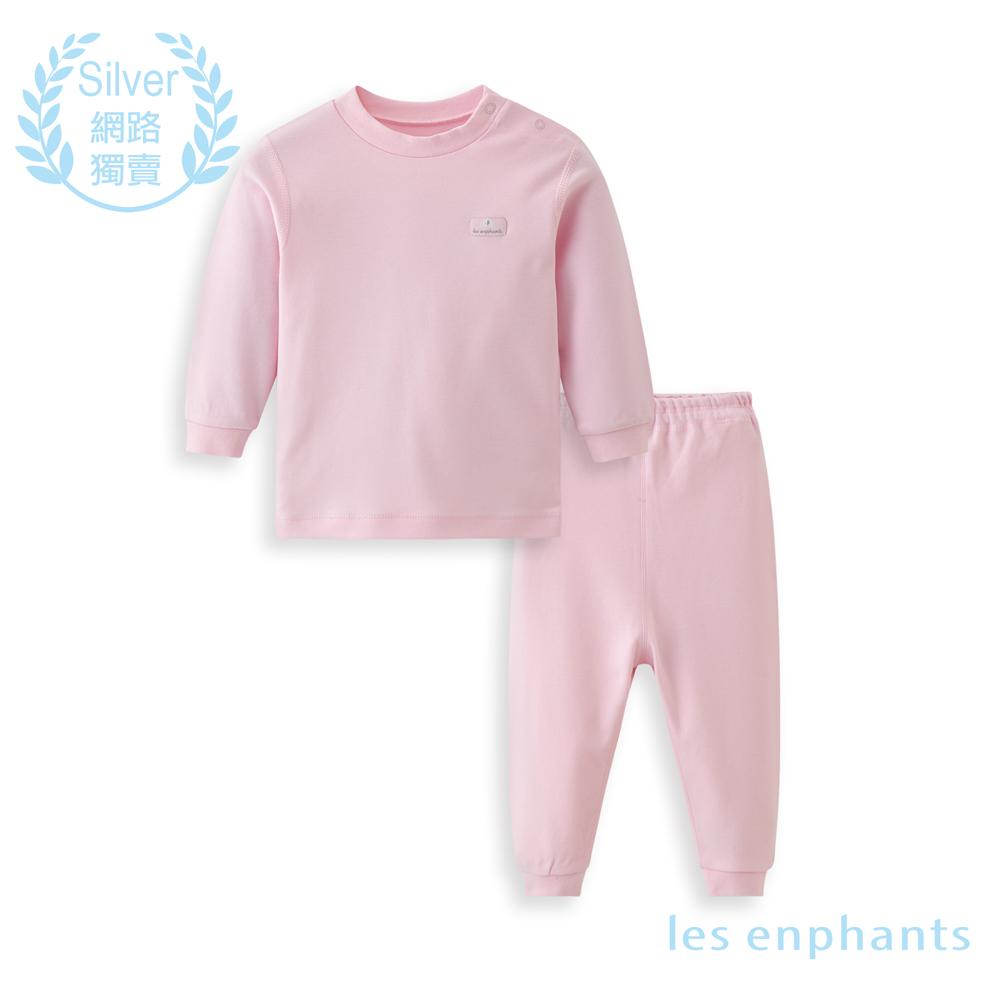 les enphants 精梳棉系列素面半高領套裝(共3色)