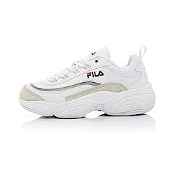 FILA RAY復古運動鞋(老爹鞋)-白銀 4-C104T-196