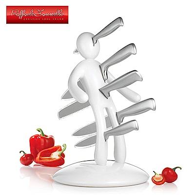 義大利原創設計師Raffaele Iannello鉬釩鋼刀具5件組 白色