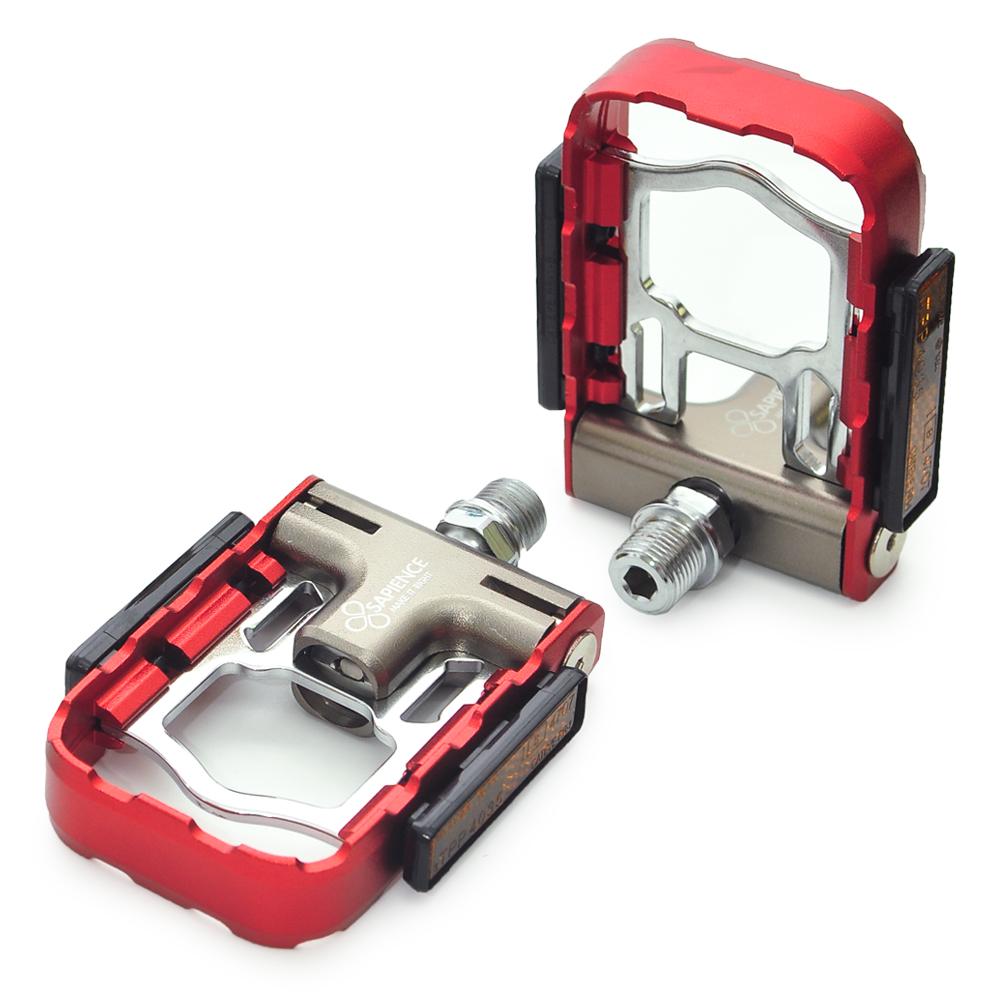 SAPIENCE 專利磁吸式折疊踏板 鋁合金培林踏板(YP-126) -紅