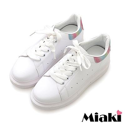 Miaki-休閒鞋.超眩反光厚底運動鞋-彩