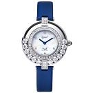 Ogival愛其華 流星系列-流光瀲灩珠寶錶-白x藍 380-45.1DLW