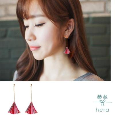 Hera赫拉-手工和風摺紙扇耳環一對