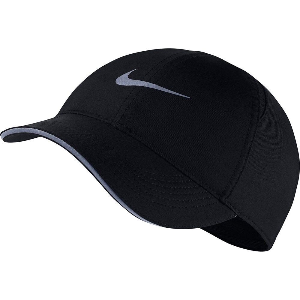 NIKE  老帽 棒球帽 遮陽帽 黑 AR2028010  W NK DRY AROBILL FTHLT CAP RUN