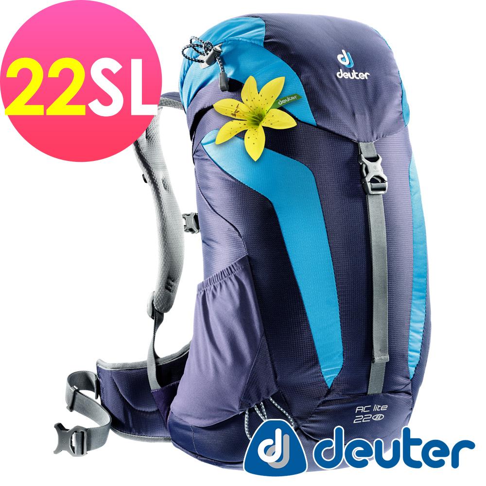 【deuter德國】網架透氣背包22SL(3420216深藍)