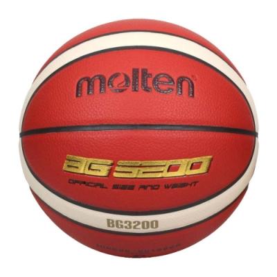 MOLTEN #7合成皮12片貼籃球-室內 室外 戶外 訓練 7號球 B7G3200 橘米白金
