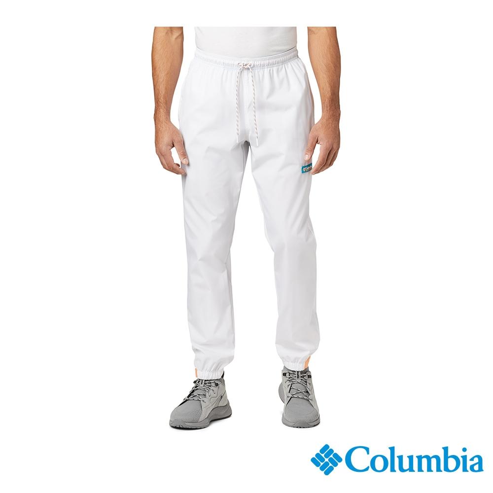Columbia 哥倫比亞 中性- ICONS防潑長褲-白色 UAE03690WT