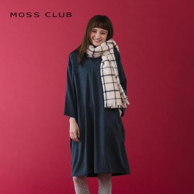 【MOSS CLUB】舒適寬鬆-連身裙(灰色)