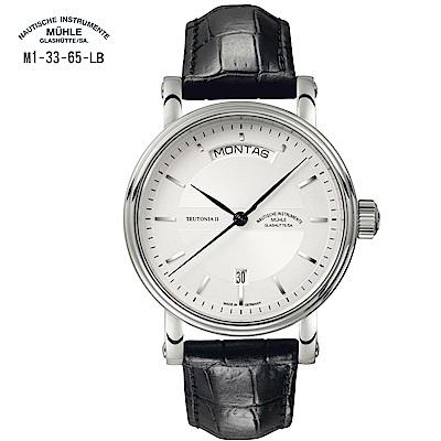 格拉蘇蒂·莫勒 Classical經典系列-日耳曼時計M1-33-65-LB 機械男錶