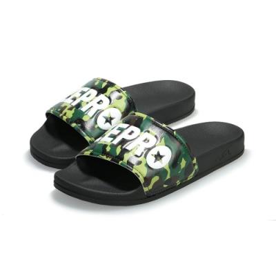 【ZEPRO】男女款 Q-FORCE超彈力運動拖鞋-迷彩綠