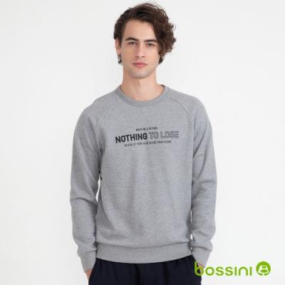 bossini男裝-圖案圓領厚棉T恤11灰色