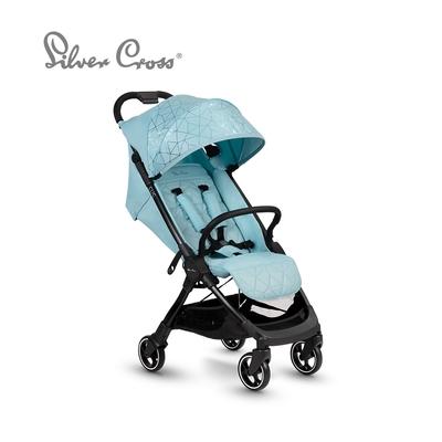 Silver Cross Clic 輕量瞬收 可登機 可平躺 嬰兒手推車 0m+(晶礦水藍)