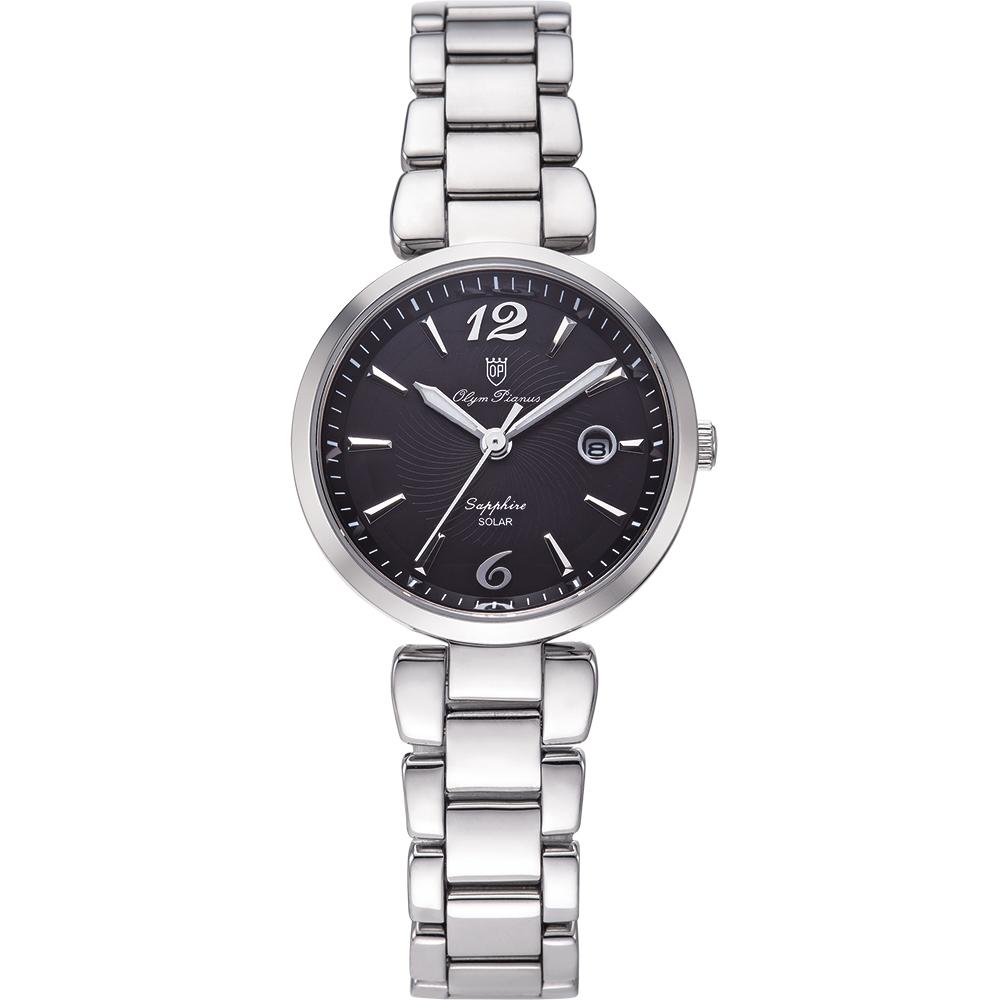 奧柏表 Olym Pianus 潮流太陽能淑女腕錶-黑 5699LS