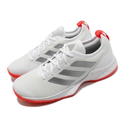 adidas 網球鞋 Court Control 運動休閒 男鞋 愛迪達 耐磨 透氣 緩衝 膠底 白 橘 銀 FX7472