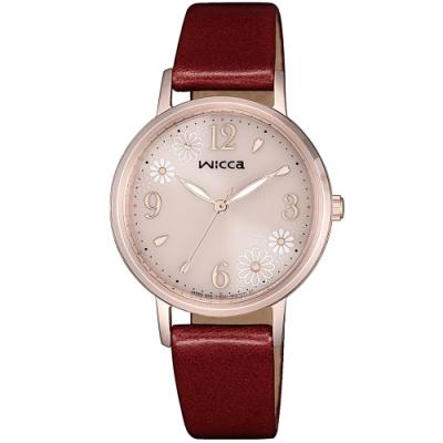 CITIZEN星辰 WICCA 少女系列廣告款 甜美太陽能女錶(KP5-166-90)