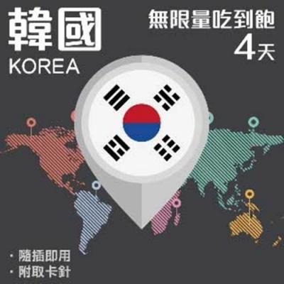 【PEKO】加送卡套 韓國上網卡 4日高速4G上網 無限量吃到飽 優良品質