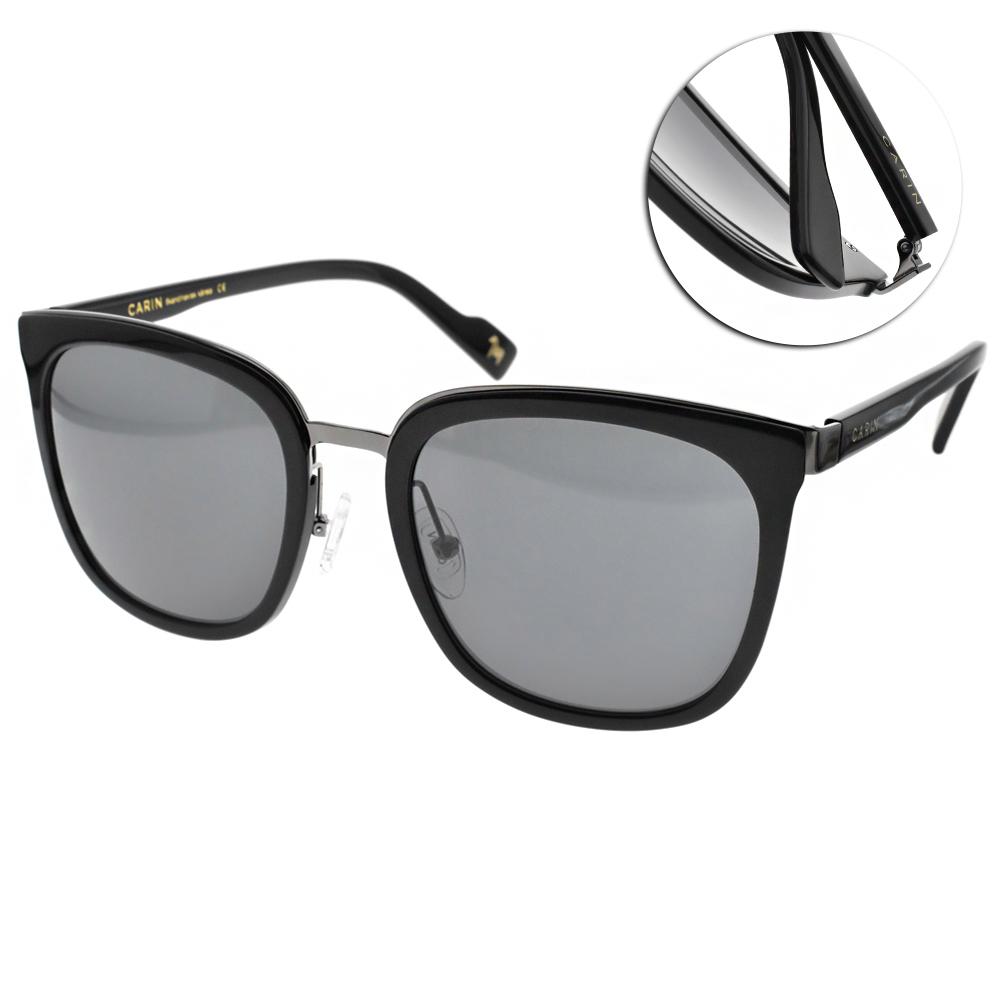 CARIN太陽眼鏡 秀智代言 修飾大框款/黑槍-灰 #KLADD MORE C2