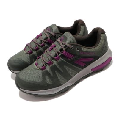 Merrell 戶外鞋 Zion FST Waterproof 女鞋 登山 越野 防水 透氣 支撐 避震 膠底 綠 紫 ML035392
