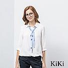 KiKi INLook 星星印花領結領巾襯衫(二色)